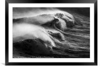Wave Power, Framed Mounted Print