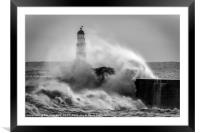 Storm Surge at Seaham, Framed Mounted Print