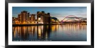 View of Gateshead Riverside, Framed Mounted Print