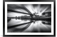 Zoomed Tyne Bridge, Framed Mounted Print