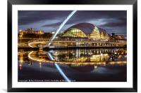 Gateshead Millennium Bridge, Framed Mounted Print