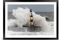 Big Waves at Seaham, Framed Mounted Print