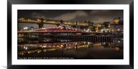 Swing Bridge, Framed Mounted Print