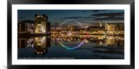 View up the River Tyne, Framed Mounted Print