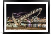 Millennium Bridge Open, Framed Mounted Print