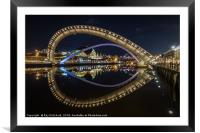 Millennium Bridge Tilted, Framed Mounted Print