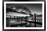 Tyne Bridge and a Puddle, Framed Mounted Print