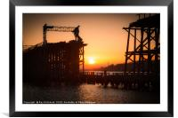 Dunston Staithes at Sunset, Framed Mounted Print