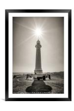 Old South Pier Lighthouse, Framed Mounted Print