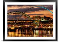 Tyne Bridges,Newcastle, Framed Mounted Print