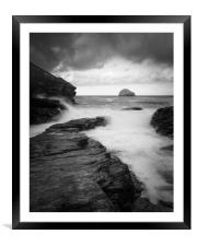 Trebarwith strand            , Framed Mounted Print