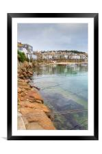 Mousehole cornwall , Framed Mounted Print