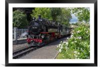 Steam train on the Zittau Railway,Saxony ,Germany., Framed Mounted Print