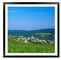 Arcenant , Burgandy, France , Framed Mounted Print