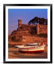 TOSSA DE MAR,COSTA BRAVA, SPAIN., Framed Mounted Print