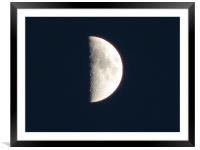 Moon, Framed Mounted Print