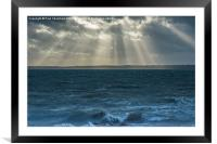 Crepuscular rays on the Solent, Framed Mounted Print