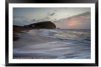 West Bay Sunrise, Framed Mounted Print
