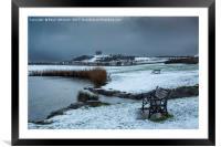 Winter at Herrington and Penshaw, Framed Mounted Print