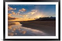 Sunrise Costa Calma, Framed Mounted Print