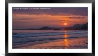 Criccieth Castle Sunset, Framed Mounted Print