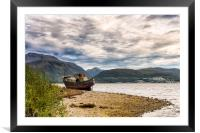 Corpach Wreck with Ben Nevis , Framed Mounted Print