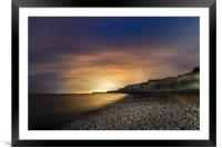 Seven Sisters at Night from Birling Gap , Sussex, Framed Mounted Print