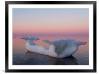 Viking Iceberg Ship, Framed Mounted Print