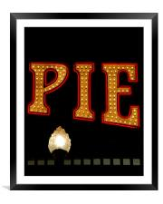 Pie at  the Pier, Framed Mounted Print