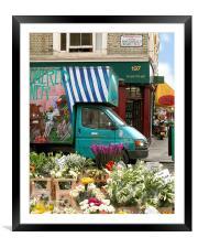 Portobello Road Flowers, Framed Mounted Print