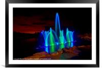 Fountain at the Electric Forest, Framed Mounted Print
