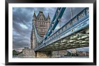 Tower Bridge London, Framed Mounted Print
