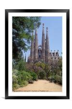 La Sagrada Familia, Framed Mounted Print