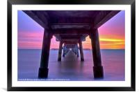Deal Pier Sunrise, Framed Mounted Print