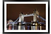 Tower Bridge, Framed Mounted Print