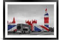 Big Ben Union Jack, Framed Mounted Print