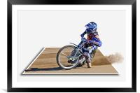 Racing on the Edge, Framed Mounted Print