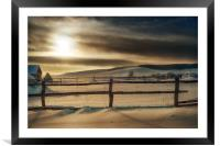 Visions of Sun Snow, Framed Mounted Print