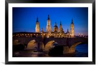 Basilica of Our Lady of the Pillar, Framed Mounted Print
