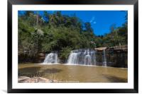 Si Dat Waterfall, Framed Mounted Print