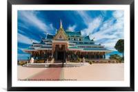 Wat Phar Pu korn, Framed Mounted Print