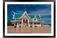 Wat Phar Pu korn-Library, Framed Mounted Print
