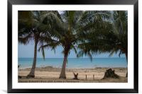 Island Paradise #1, Framed Mounted Print