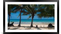 Paradise Island #2, Framed Mounted Print
