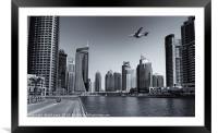 Dubai Marina, Framed Mounted Print