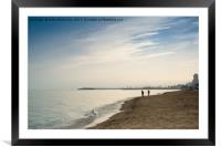 Family Walk At The Beach, Framed Mounted Print