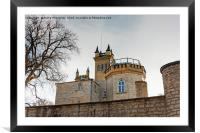 Behind Castle Walls, Framed Mounted Print