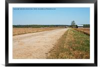 Gravel Road By The Fields, Framed Mounted Print
