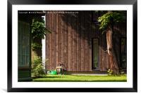 Garden Tools Beside A Modern Building, Framed Mounted Print