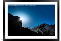 Patagonia Landscape Scene, Aysen, Chile, Framed Mounted Print